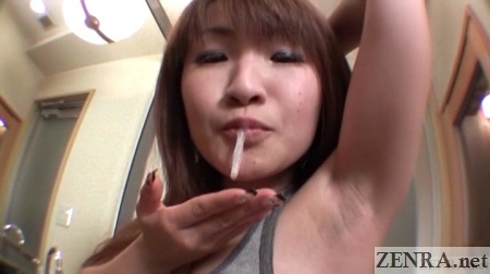 Saliva used as lubricant for armpit shaving in Japan