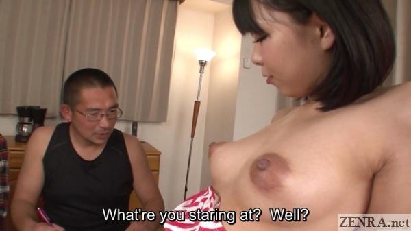Topless Mikan Kururugi surprises older pupil