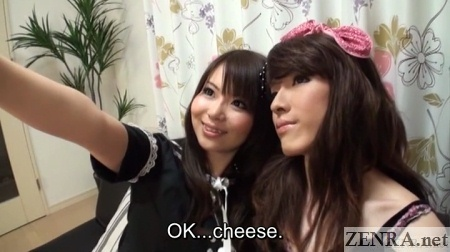 Selfie with cross-dresser in Japan