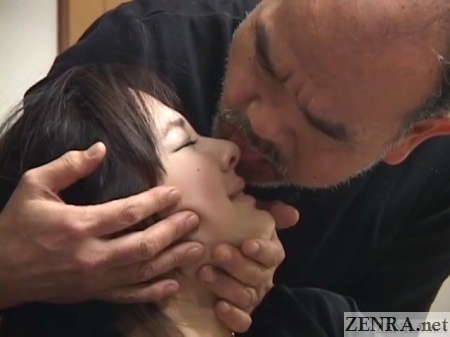 Nose licked during bondage foreplay