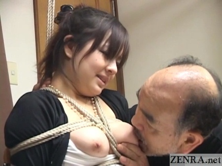 Big Japanese breasts licked