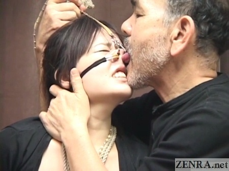 Japanese nose hooks nostril licking