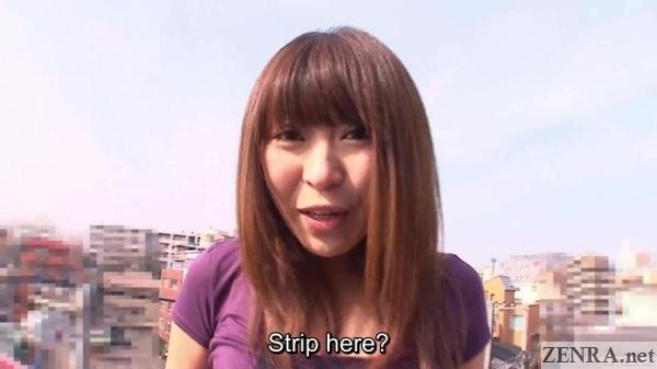 Rooftop naughty dare with Jun Kusanagi