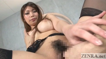 Busty Japanese woman fingered in POV