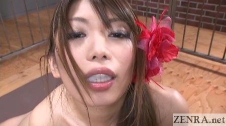 Subtitled hikari hino facesitting blowjob with gokkun finish - 2 5