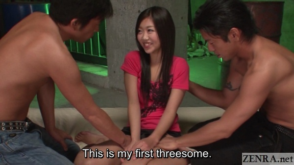 First threesome for Japanese teen