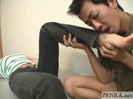 Japanese foot fetish admiration