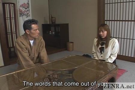 Schoolgirl meets with older man