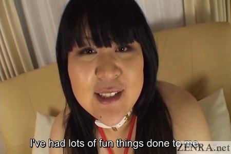 Super masochistic fat Japanese woman