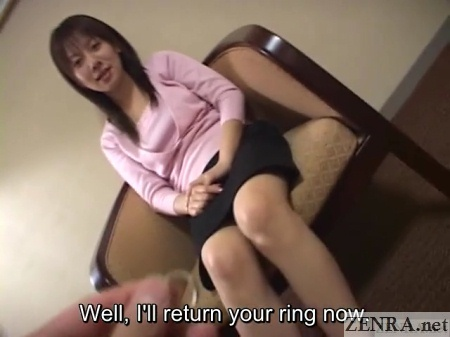 Wedding ring returned to unfaithful Japanese wife