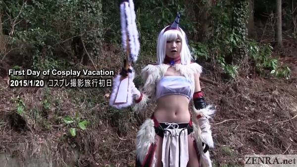 japanese cosplay near forest