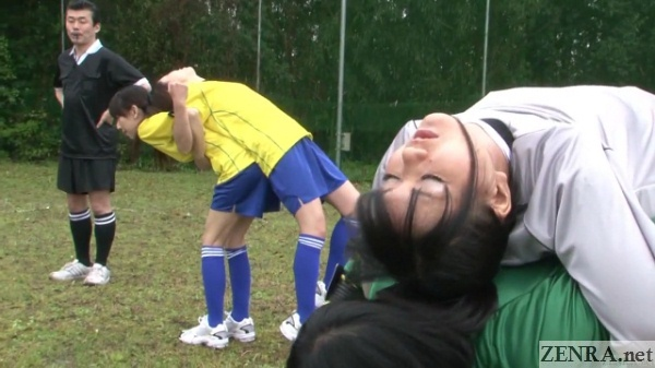 outdoor japanese soccer practice