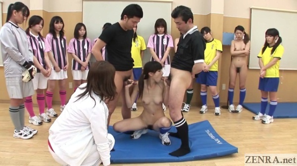 blowjob with handjob japanese soccer penalty game