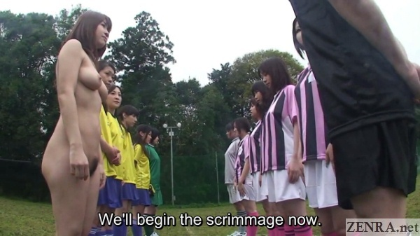 only one naked nudist japanese soccer begins