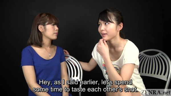 japanese woman compare boogers