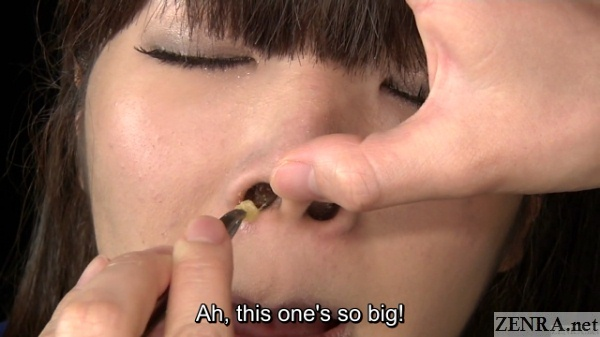 snot pulled out of nose in japan in hd