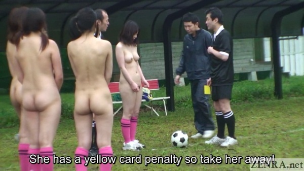 nudist japanese soccer yellow card foul