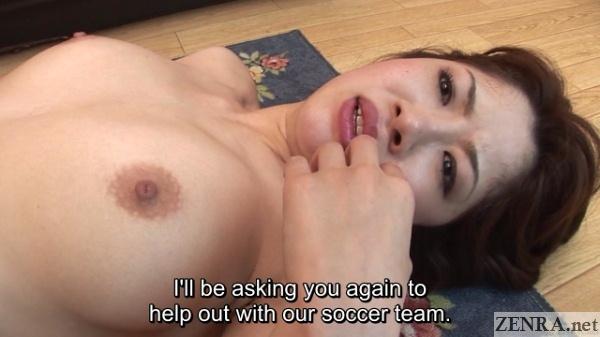 post nakadashi flushed female japanese soccer coach