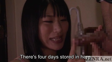 chigusa hara handles erection in hallway