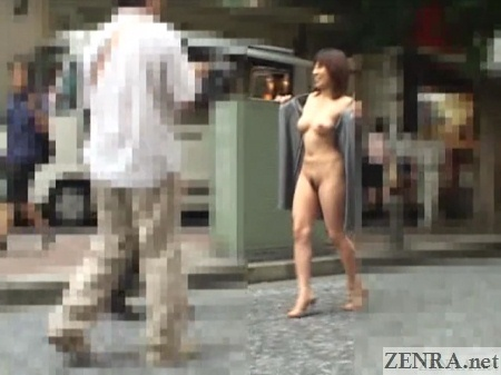 japanese woman flashes in public