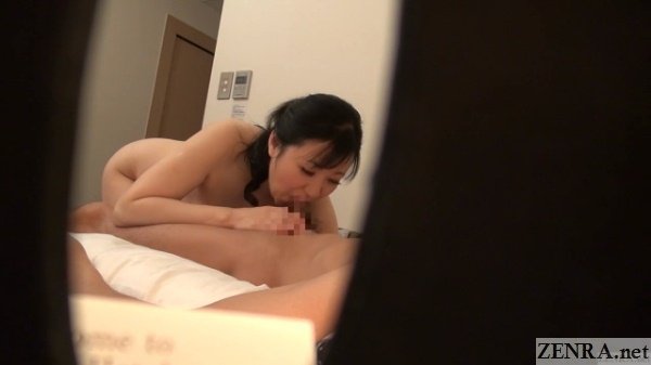 bent over chunky and nude blowjob by older japanese woman