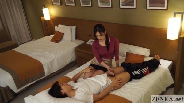 japanese cfnm handjob by older hotel masseuse