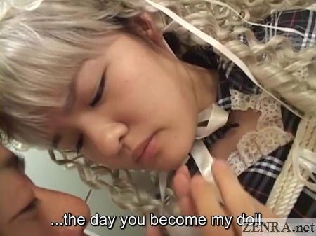 japanese teen in blonde wig