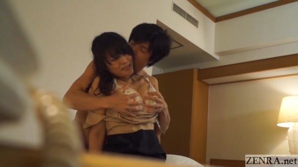 busty japanese masseuse groped