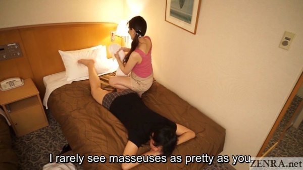 customer compliments cute older masseuse