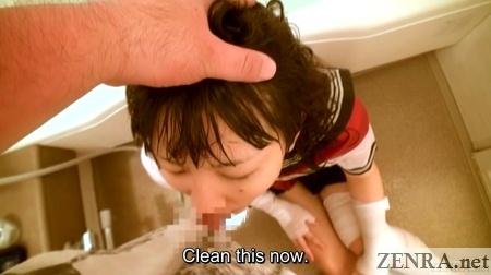pov bathroom blowjob with japanese teen