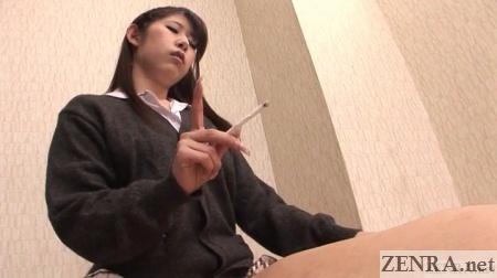 smoking while facesitting in japan