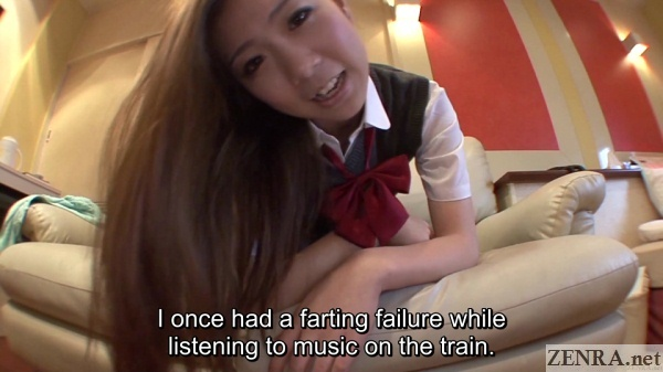 farting story about train incident with schoolgirl