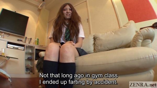 gyaru schoolgirl talks about farting in class