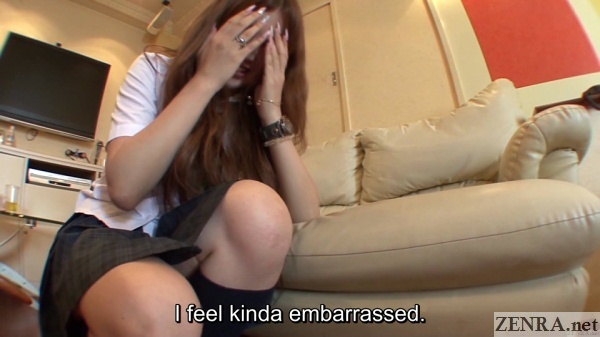 embarrassed farting gyaru schoolgirl