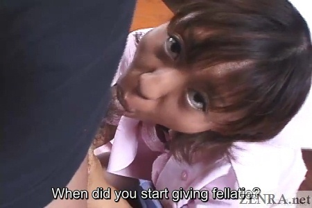 pov japanese nurse blowjob from above