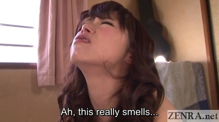 rancid semen sitting in mouth of katou tsubaki