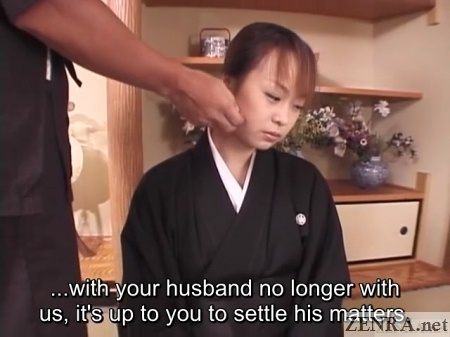 mourning japanese wife with big debt