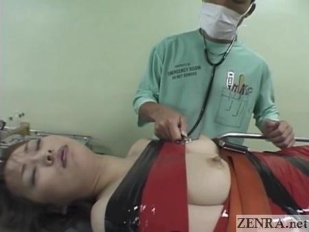 half mummified japanese woman in hospital