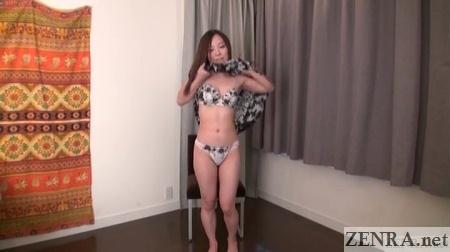 shizuka maeshiro takes off dress