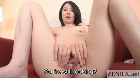 embarrassed spread eagle japanese woman