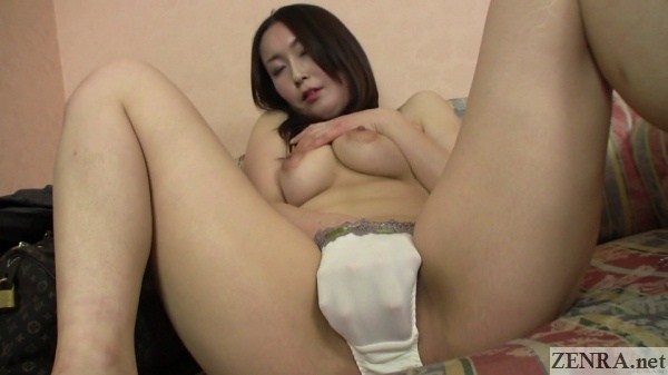 busty japanese amateur fingers herself