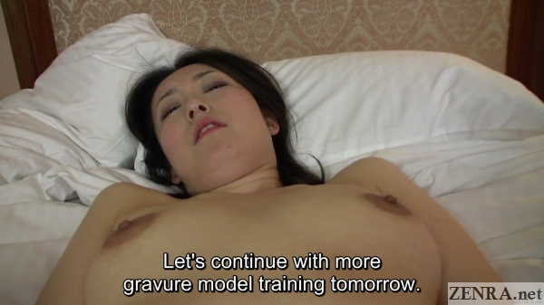 post nakadashi gravure model interview continues