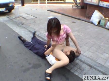 facesitting in tokyo through pantyhose