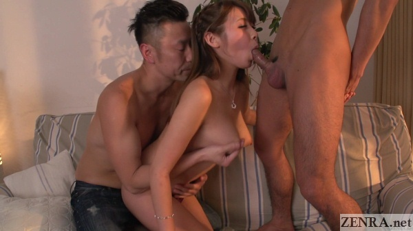 hitomi kitagawa uncensored blowjob with groping