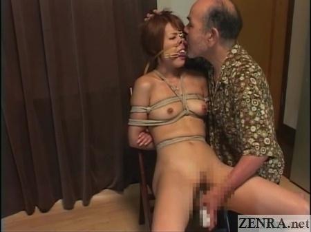 clothed male naked female japanese bondage