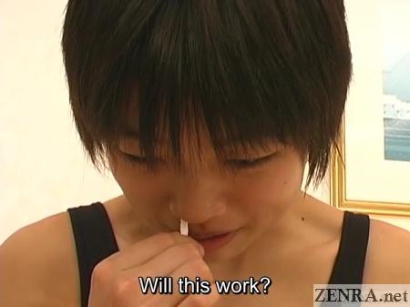 schoolgirl sneezing attempt