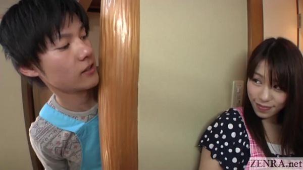 japanese couple secret smile secret blowjob