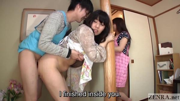 nakadashi sex with japanese milf wife next door