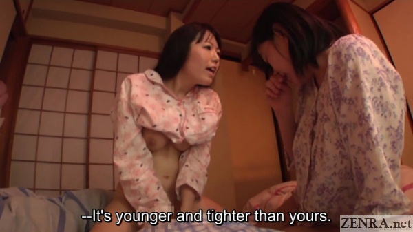 japanese wife affair sex with audience