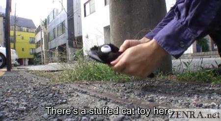 cat toy found on tokyo street